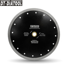 цена на DT-DIATOOL 1pc Dia 230mm/9 Sintered Diamond Cutting Disc Mesh Turbo Diamond Saw Blade For Cutting Granite Marble Tile Ceramic