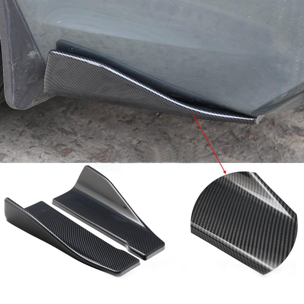 2X 35cm Anti-crash ABS Car Bumper Spoiler Rear Lip Angle Splitter Diffuser Wings