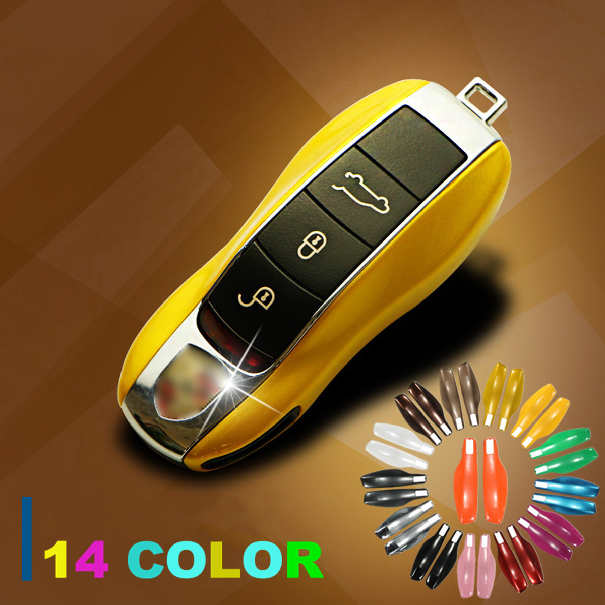 Car Key Case Cover For Porsche Keyless Remote Case Casing Side Shell Cap Fob Protection