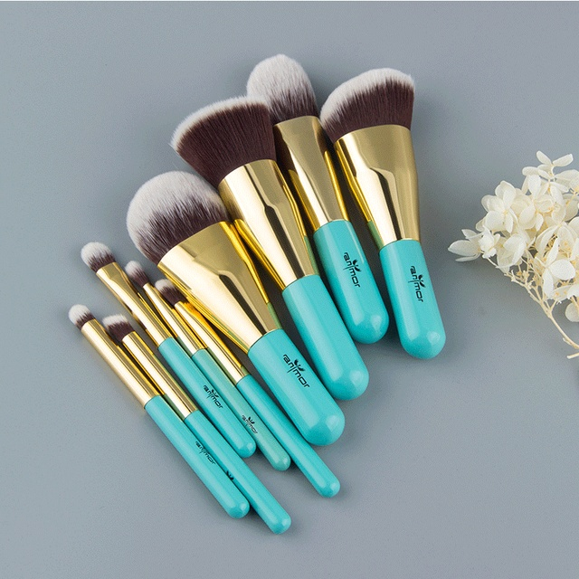 Anmor 9PCS Makeup Brushes Professional Make up Brush Set Portable Bag Foundation Eyeshadow Cosmetic Tools pinceaux maquillage 2