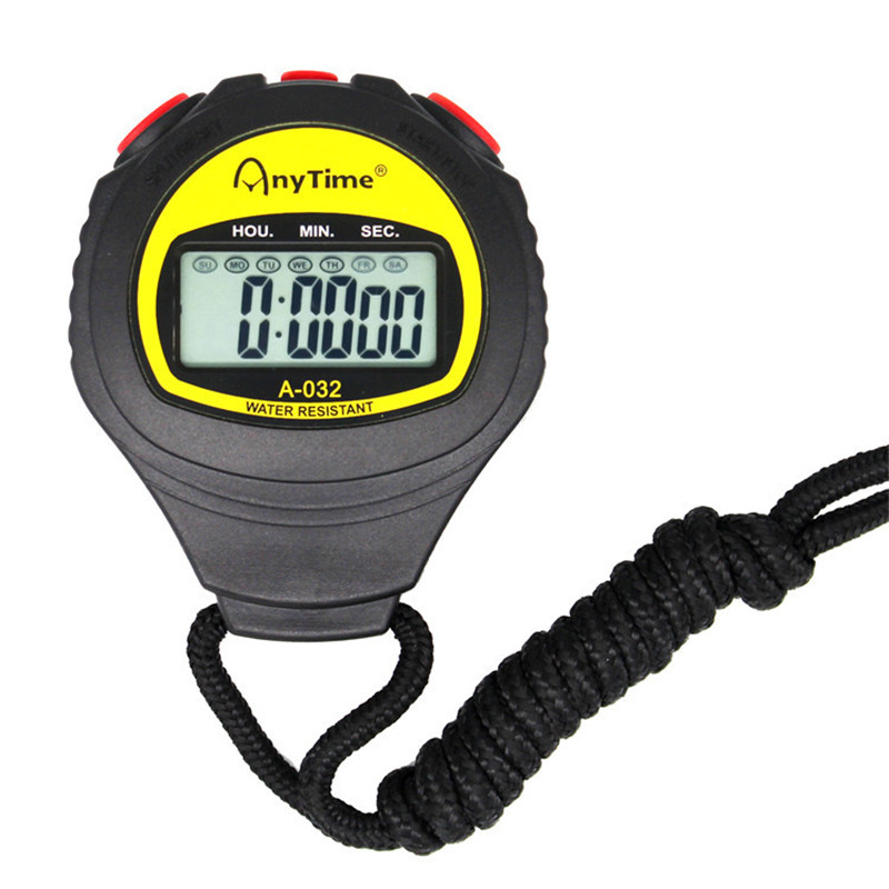 Multifunction Digital LCD Sport Stopwatch Electronic Stopwatch Chronograph Timer Counter Alarm Sport Watches Fitness Accessories