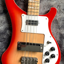 Good Quality Ricken 4003 Electric Bass Neck Through 2pcs Maple Wood Body CherryBurst Color Free Shipping #F219