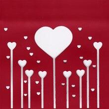 WISHMETYOU Metal Cutting Dies Love Magic Wand Different Size Heart DIY Couple Romantic Decoration Wedding Scrapbook