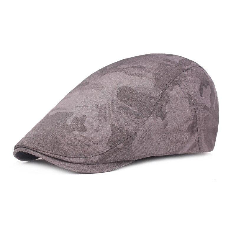 Мужская и женская хлопковая камуфляжная шляпа для гольфа, для вождения, кепка, плоская кепка, повседневная Кепка Утконос, шапка для вождения, 10,7 - Цвет: DG