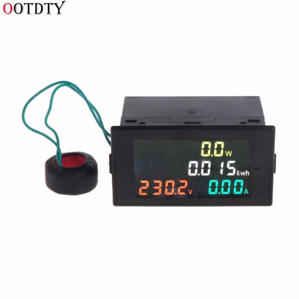 Вольтметр Амперметр переменного тока 80-300 В измеритель мощности счетчик энергии Вольт Ампер мощности кВтч измеритель 100 А CT