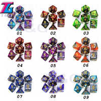 9 Colors for Choose Delicate Mix Dice with Bag Toys Adults Kids Plastic Cubes Dungeons Dragons DND RPG Tabletop Game