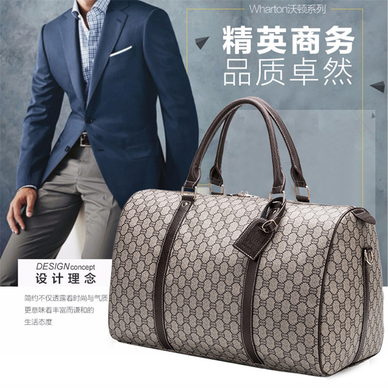 Printed Handheld Traveling Bag Men's Short Trip Luggage Bag Large Capacity Travel Boarding Bag Chu Cha Bao Business Luggage Larg