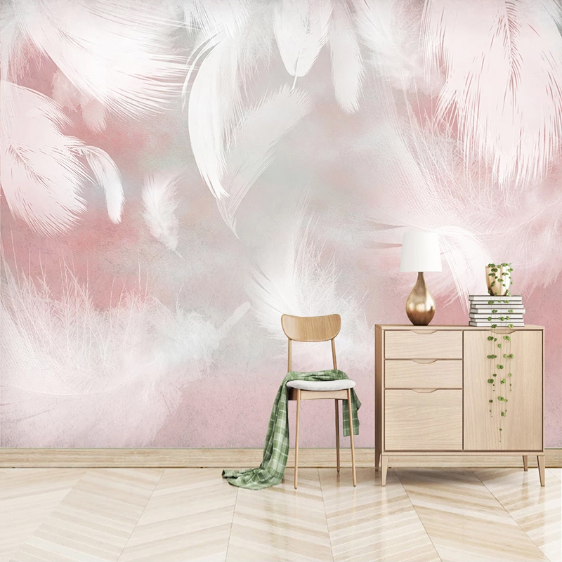 Custom 3D Photo Wallpaper Modern Abstract Feather Art Wall Painting Waterproof Canvas Living Room Bedroom Wall Papers Home Decor 4