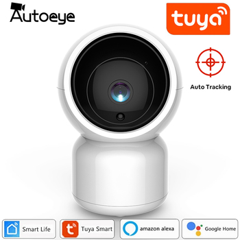 Autoeye Tuya Smart Life 1080P IP Camera 2MP Wireless WiFi Camera Security Surveillance CCTV Camera work with Alexa Google home