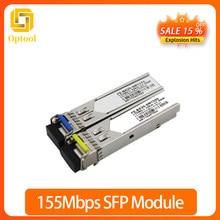 155 mb/s transceptor sfp monomodo de fibra doble 20km 1310nm lc ddm