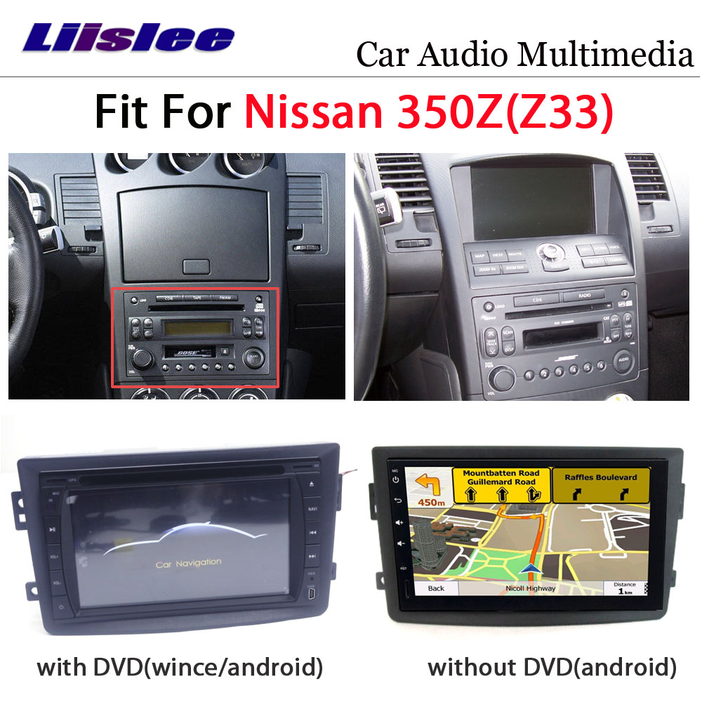 Car DVD Multimedia Player For Nissan 350Z Z33 2007~2009 Radio Android Stereo GPS Map Navigation System Audio Installation Set