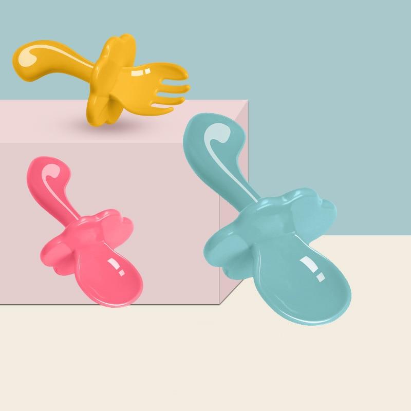 Baby Geschirr Box Tragbare Flip Abdeckung Typ Besteck Fall Küche Kinder Utensilien Geschirr Tasche Abendessen Set Dropshipping