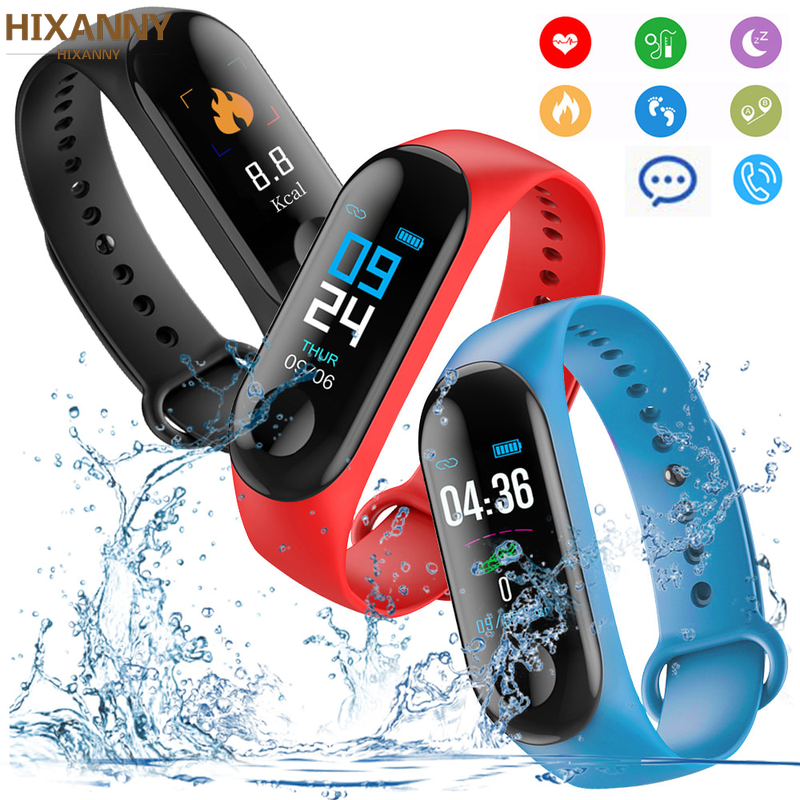 M 3 Fitness Bracelet Men Heart Rate Monitor Band Blood Pressure Bluetooth Sport Smart For Xiao Mi Android IOS