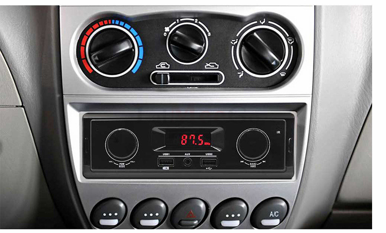 12V LED Display 1 Din Car Radio MP3 Player Vehicle Stereo Audio In-Dash USB Aux Input Receiver No Bluetooth Remote Control (8)