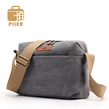 Piler Women Canvas Shoulder Bags for Student Small Female Handbags Simple Flap Messenger Bags Canvas Casual Crossbody Bags women messenger bags flap bag lady canvas cartoon owl printed crossbody shoulder bags small female handbags