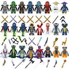 24 pçs conjunto mini mestres de spinjitzu jay cole kai zane lloyd nya mini boneca de brinquedo figura construção motocicleta bloco brinquedos presente