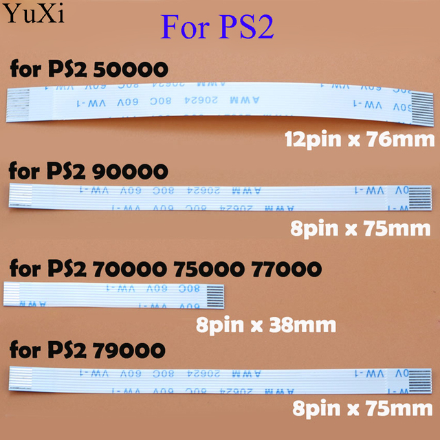 Power Reset Switch Ribbon flex Cable for PS2 30000 5W 90000 For PS3 slim 2000 for PS4 10pin 12pin 14pin Controller Repair Part 1