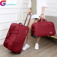 Large Luggage Bag Trolley Case Large Capacity Travel Bag on Wheels for Women Men Suitcase Travel Duffle Travel Rolling Baggage