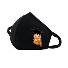 Anime Dragon Ball Mouth Face Mask woman man Printed DustpRespirator Fashion Black Muffle Cute Women Cotton
