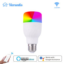 Wifi Smart Light Bulb Intelligent Colorful LED Lamp 7W RGBW APP Dimmable Works With Alexa Google For Smart Home E27 E26 Hoilday