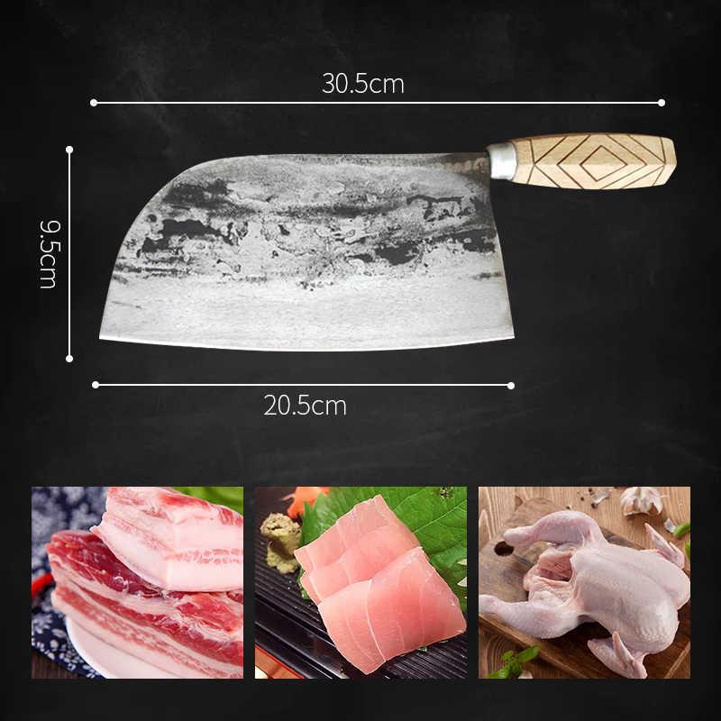 包丁日本シェフナイフ木製ハンドルカッター調理チョッピングナイフステンレス鋼包丁肉スライスワイド調理ナイフ