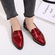 Women Derby Leather Brand Oxfords Tassel Bowtie Female Casual Pointed Toe Slip O