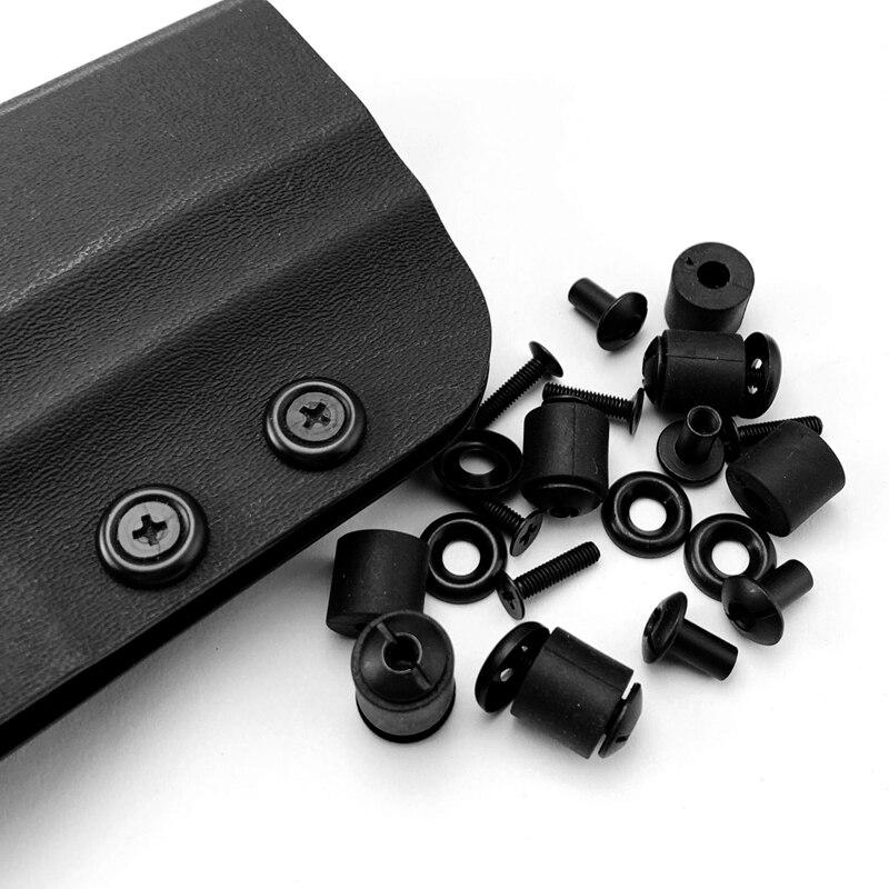 6 Sets Kydex Holster Screw Parts Fast-dialing Sheath Screw Fittings Making K Sheath DIY Waist Clip Screw Accessories