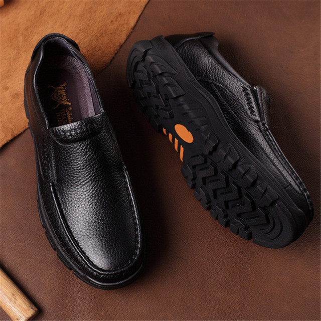 Men's Genuine Leather High Grip Shoes 4