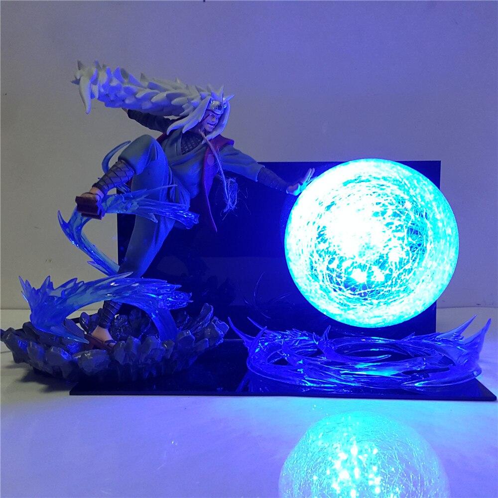 Naruto Jiraiya Rasengan LED Night Light DIY Bedroom Decor Lampara Anime Naruto Shippuden Jiraiya Lamp Decoration Lighting Gifts