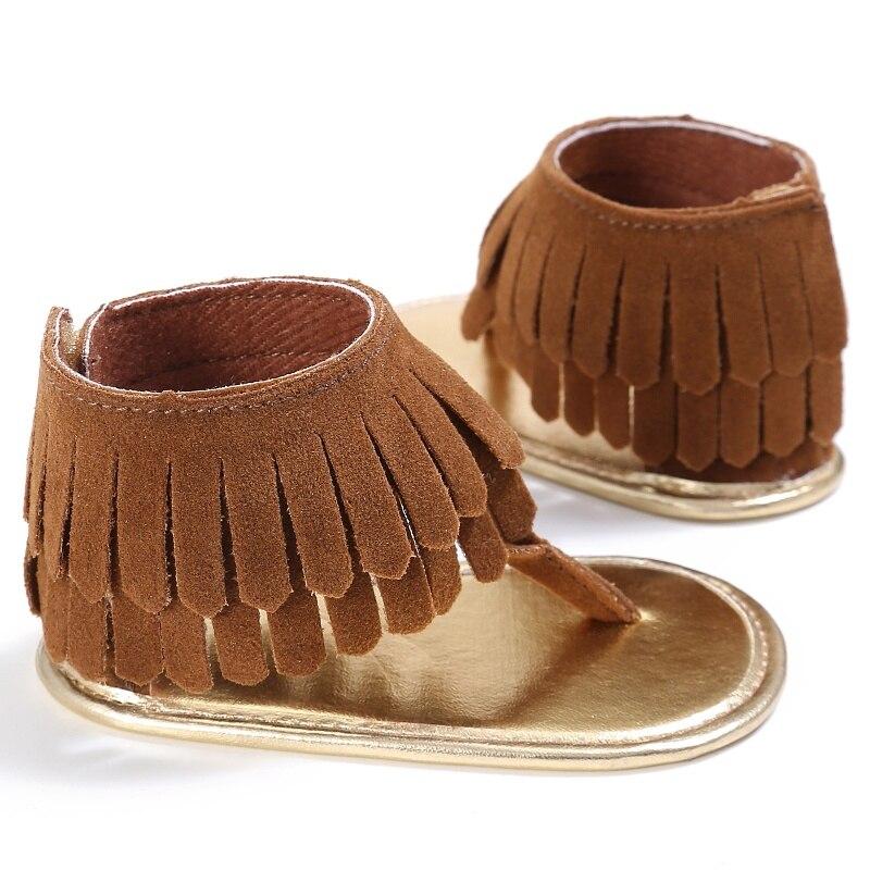 Toddler Newborn Baby Girl Shoes Tassel Summer Shoes Anti-slip Flip Flop Prewalker For Baby Girls 0-18M