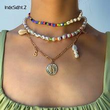 Чокер ingesightz с имитацией жемчуга ожерелье подвеской в виде