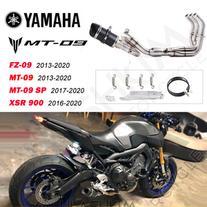 Motorcycle Exhaust muffler pipe Full System Slip On For Yamaha FZ-09 MT-09 MT 09 2013-2020 XSR 900 XSR900 2017-2020exhaust