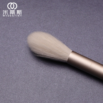 MyDestiny cosmetic brush-The Snow White series-flame shape highlight brush brush-goat hair makeup tools&pens-beauty 5