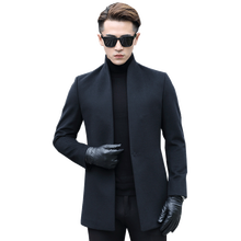 Шерстяное пальто осенне-зимняя куртка шерстяное пальто для мужчин Уличная ветровка верхняя одежда мужская куртка и пальто