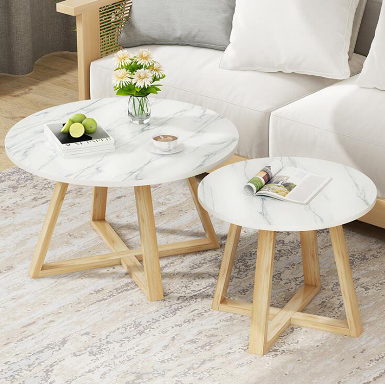 Nordic Living Room Countertop Marble Design Coffee Table Simple Small Apartment Creative Round Luxury Small Table