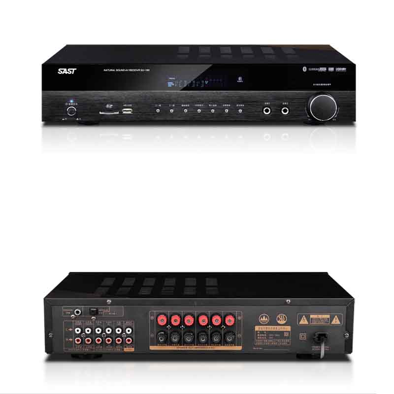 KYYSLB SU-190 AV 650W  Home Audio 5.1 Professional High Power Bluetooth Amplifier Home Theater Fiber Coaxial HiFi Amplifier