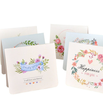 2pcs Flower Greeting Card Stationery Envelopes Letter Paper Poly Mailer Custom Shipping Mailer Bags Kawaii School Supplies image