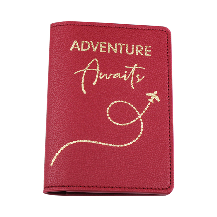 Jiexi Letter Adventure Words Plan Flying PU Leather Passport Cover Case Card Holder Travel Accessories Passport Wallet CH15