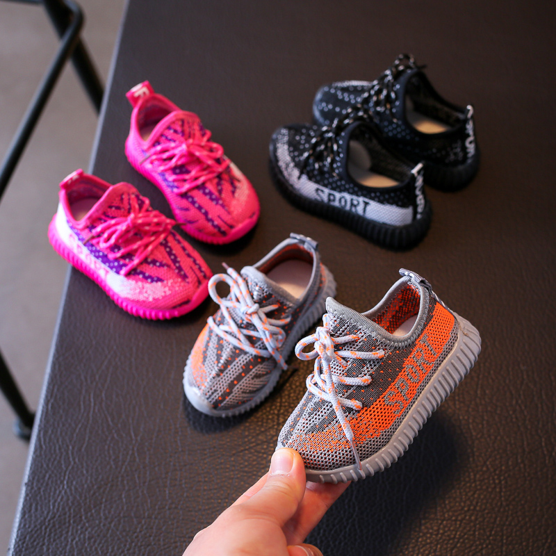 Summer New Baby Shoes Boy Girl Breathable Mesh Toddler Shoes Knit Infant Sneakers Soft Children Toddler Casual Shoes