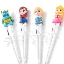 Замороженная Принцесса Aisha китайские детские палочки для еды Детские Мультяшные тренировочные палочки для еды детская посуда одна пара пластиковая посуда