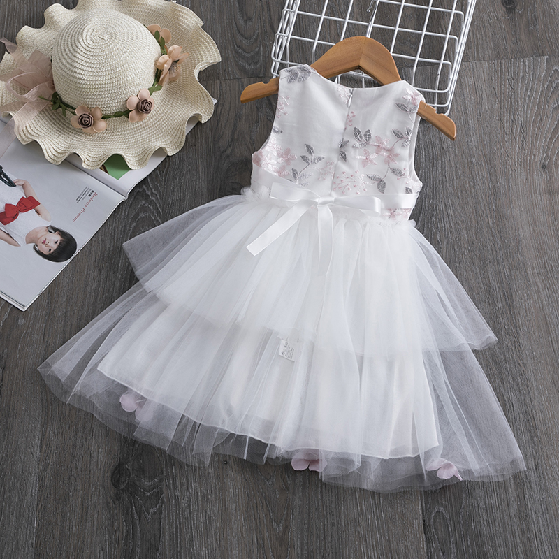 H0c1301cb3c8349c193e752f28e0d2e6ai Lace Little Princess Dresses Summer Solid Sleeveless Tulle Tutu Dresses For Girls 2 3 4 5 6 Years Clothes Party Pageant Vestidos