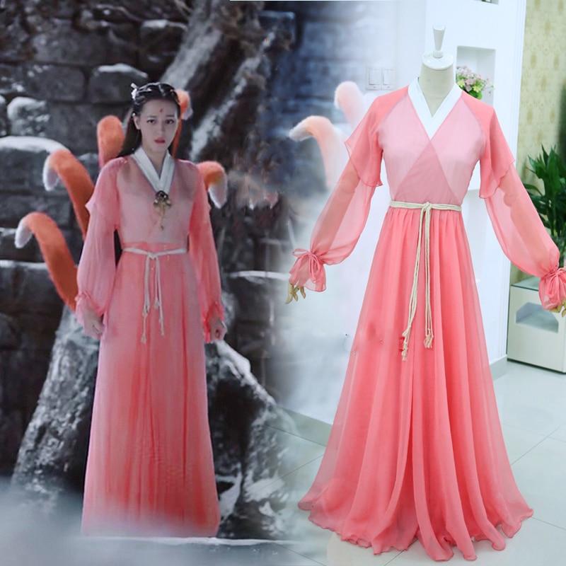 12 Designs Feng Jiu Cheng Yu Female Immortal Fairy Fox Princess Costume for TV Play Eternal Love of Dream Woman Cosplay Hanfu