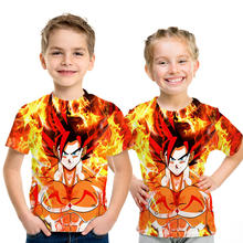 Dragon Ball Z Goku T Shirt Kids 2020 Summer Boys Short Sleeve Shirt High Quality T-Shirts Cartoon Anime dragonball T-shirt Top(China)