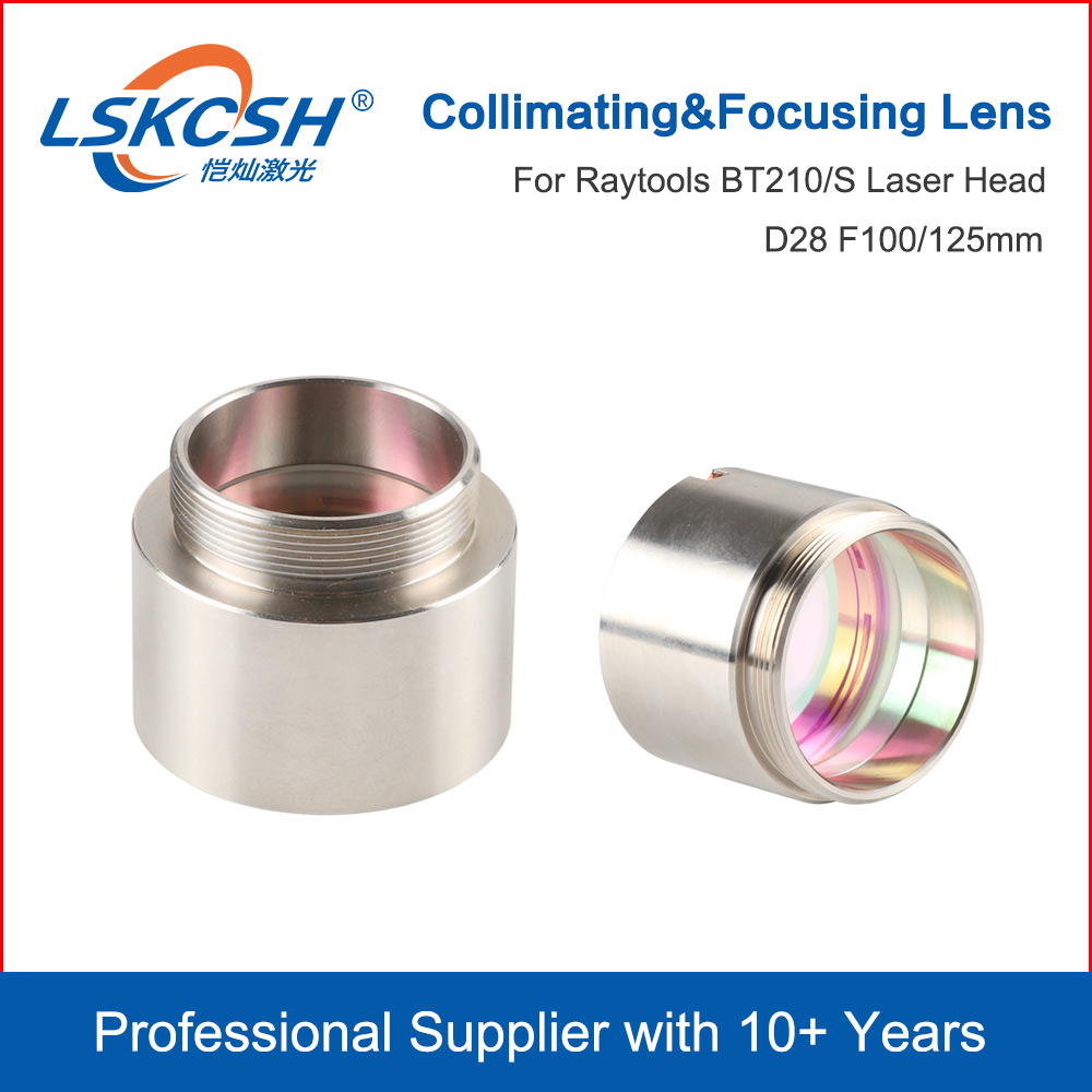 Lskcsh bt210 bt210s colimating & lente de focagem d28 f100 f125mm com suporte de lente para raytools cabeça de corte a laser bt210