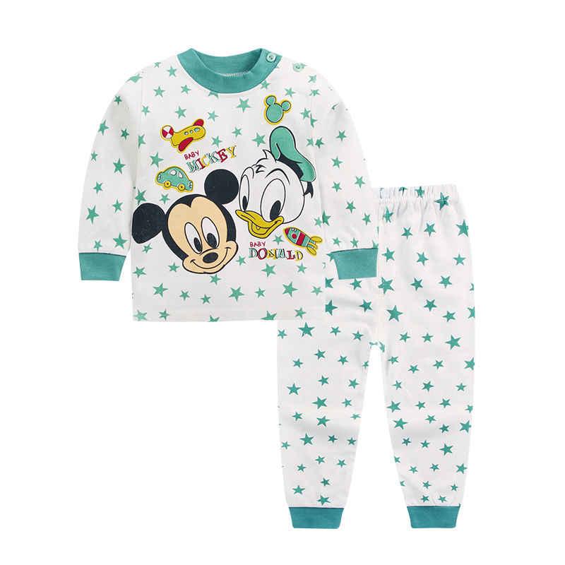 Kinder Baumwolle Jungen und Mädchen Baby Baumwolle Unterwäsche Set kinder Herbst Kleidung Lange Hosen Hause Service Baby Kleidung