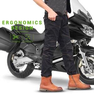 Image 5 - Sommer Motorrad Hosen Männer Moto Hosen Motorrad Jeans Motocross Reiten Racing Motorrad Dirt Bike Hose Mit Schutz