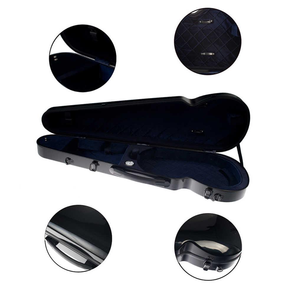 Ukuran Penuh 4/4 Biola Biola Hard Case Berkualitas Tinggi Fiberglass Fiddler Built-In Hygrometer dengan Membawa Menangani Tali