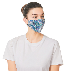 5Set Breathable Face Mas With Filters Cotton Floral Prints Reusable Washable Masks Face Unisex Dust-proof Mouth Cover Mask