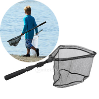 Collapsible Carbon Fiber Landing Net Fly Fishing Catch and Release Net Trout Brail