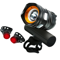 FangNymph Bicycle USB Rechargeable Highlight Warning Light Kit Mountain Bike T6 Headlights Rear Lights Set